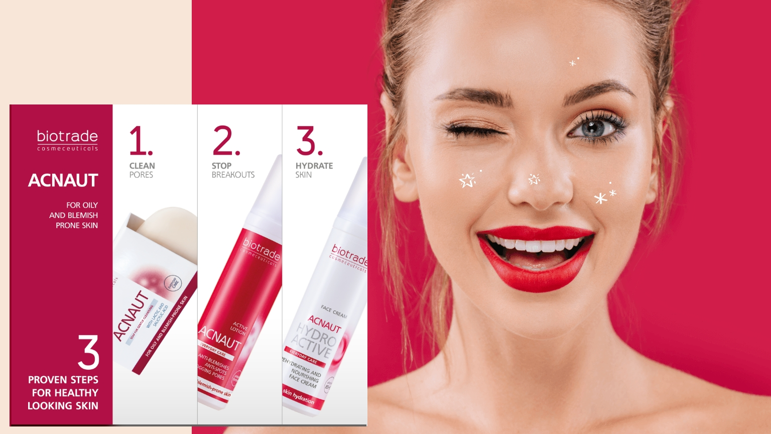 """<p style=""""text-align: left;"""">Get rid of breakouts in 3 easy steps!</p> <h2></h2>"""